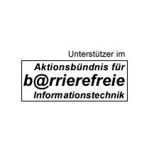 """Unterstützer """"Aktionsbündnis Barrierefreie Informationstechnik"""" Bundesministerium für Gesundheit und Soziale Sicherung"""